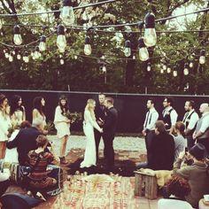 Boho bride. Bohemian wedding. Nashville. Imogene + Willie. Wolf wedding.