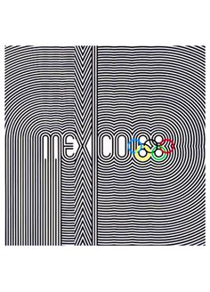 MEXICO CITY 1968 OLYMPIC SUMMER GAMES Official Poster Reprint ~ Available at www.sportsposterwarehouse.com