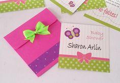 Invitaciones para Baby shower de niña