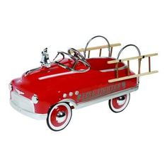 Dexton Fire Fighter Comet Sedan - Red - DX-20332 $315 Your little fire fighter will be a first responder, and come to the rescue in their very own Fire Truck Comet Sedan. This classic pedal car was inspired by retro pedal cars of the 1950