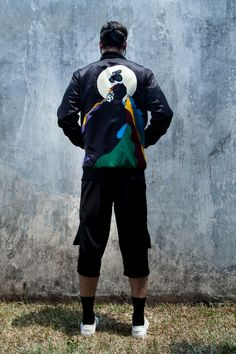 Black Onnagata Bomber Jacket | Swank | NOT JUST A LABEL