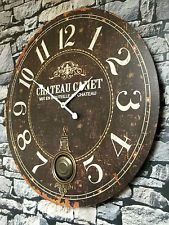 Extra Large French Shabby Chic Wall Clock Antique Vintage Style & Boxed for sale online Wall Clocks Uk, Wall Clock Silent, Vintage Wall Clocks, Shabby Chic Wall Clock, Shabby Chic Kitchen Decor, Extra Large Wall Clock, Large Wall Clocks, French Vintage, Vintage Style