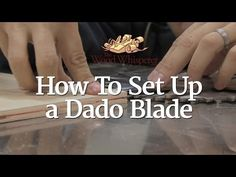 A dado blade is undoubtedly the most versatile table saw accessory how to set up a dado blade the wood whisperer greentooth Choice Image