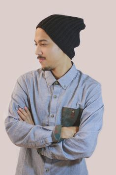 Ribbed crochet hat. www.miyukicrochet.com  Men's fashion, Men's hat