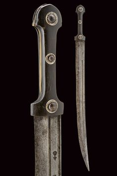 "A qaddara - Dating: 19th Century - Provenance: Caucasia - - Long, curved,[...], Up for sale during the sale ""Militaria, Armes Antiques & Armures"" at Czerny's 