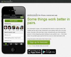 Avocado, una aplicacion web, android y iPhone para comunicarse con tu pareja