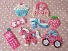 Cute pink - hama beads
