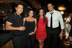 Mario & Courtney Lopez and Gilles & Carole Marini at Simon G. Soiree at TAO Las Vegas.  Party Photo Credit: Powers Imagery