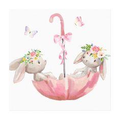 Baby Animal Drawings, Cute Drawings, Nursery Wall Art, Girl Nursery, Baby Prints, Wall Art Prints, Baby Poster, Lapin Art, Bunny Art