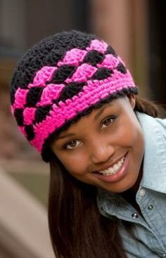 Shells are Swell Beanie Free Crochet Pattern from Red Heart Yarns