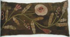 primitive wool applique patterns | primitive rug hooking,wool applique,hand dyed wool,punch needle,cross ... DIY