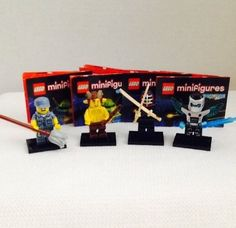 4 Lego Minifigures Lot Series 15 7 9 11 12 with Product Page Code Ninja Flute | eBay