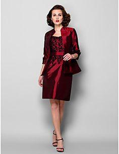 86334e5df0f Lanting Bride® Pouzdrové Větší velikosti   Malé Šaty pro matku nevěsty -  Včetně bolerka Ke