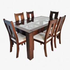 New Sweden Rectangular Dining Set (Schokolade) - Wooden Dining Table Designs, Dinning Table Design, Dining Room Furniture Design, Glass Dining Room Table, 6 Seater Dining Table, Dinning Tables And Chairs, Sofa Design, Oak Dining Sets, Esstisch Design