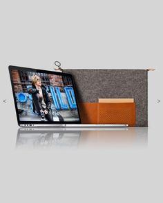 "MacBook pro 13"" Retina wool & leather case - OSTFØLD"