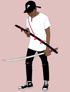 Here are all the modern samurai art in one place, so you can save them on your phones or devices and use em as wallpapers Fantasy Character Design, Character Design Inspiration, Character Art, Dope Cartoon Art, Dope Cartoons, Black Cartoon Characters, Skins Characters, Trill Art, Black Comics