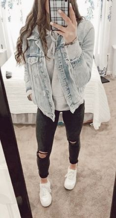 Teenage Outfits, Cute Comfy Outfits, Cute Outfits For School, Teen Fashion Outfits, Cute Casual Outfits, College Outfits, Look Fashion, Outfits For Teens, Trendy Fashion
