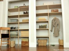 tutorial on installing closet shelving!