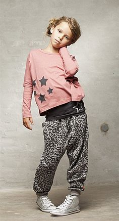 Print strousers & stars fashion