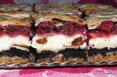 Ágnes:) szakácskönyve: Kőrösi rakott rétes / Ezerjó rétes Hungarian Desserts, Hungarian Recipes, Sweet Cookies, Sweet Treats, My Recipes, Cookie Recipes, Fun Desserts, Dessert Recipes, Sweet And Salty