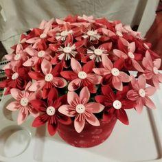 Origami kusudama flower bouquet dyi pinterest flower bouquets valentines origami flower bouquet mightylinksfo