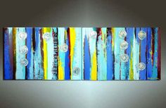 Abstract Painting 72''X24'' HUGE Original Contemporary von art53