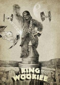 King Wookiee Art Print