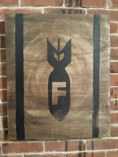 F Bomb    Hand Painted wood sign by whattawaist on Etsy