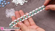 (114) YouTube Beaded Bracelet Patterns, Jewelry Patterns, Beaded Braclets, Beading Patterns Free, Woven Bracelets, Beading Tutorials, Jewelry Making Tutorials, Bead Jewellery, Seed Bead Jewelry