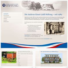 Relaunch Andreas Ernst Lohff Stiftung / Leistungen: Konzeption, Webdesign, Technische Umsetzung / Techniken: Contao, HTML5, CSS, PHP, Javascript, mootools Web Design, Andreas, Php, Landing Pages, Training, Projects, Life, Website Designs
