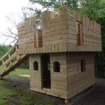 Customize this Castle to meet your own desires! The castle shown here does not have a swing beam but the plans will show you how to add one. You can change up the siding patterns to meet you own needs. The plans will show you how to install the siding as...