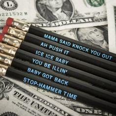 Classic Hip Hop Pencils from Firebox.com