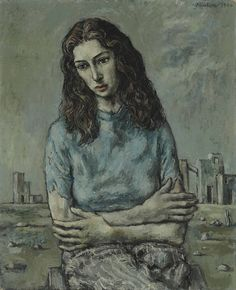 John Minton: 'Portrait of Myra Davis', 1940 John Minton, Illustration Example, Portrait Art, Portraits, Tate Gallery, Royal College Of Art, Portrait Inspiration, Figure Painting, Contemporary Paintings