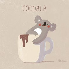 koala & cocoa illustration work by PlutoMustche