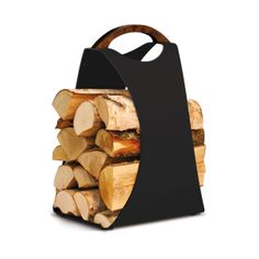 Weekly sales of unseen design and decoration brands at exclusive discounts. Firewood Carrier, Inside The Box, Leather, Gifts, Black, Living Room, Bucket, Gift Ideas, Interior Design