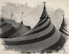 "Vintage Circus Photo in Black & White - ""Big Top"". $19.00, via Etsy."