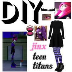 JINX TEEN TITANS by whycantsomepeoplehandleme on Polyvore featuring Alexander McQueen, Tokyo Fashion, Topshop, Kevyn Aucoin, DIY, Halloween and contest