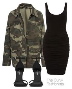 Untitled #834 by thecurvyfashionistaa ❤ liked on Polyvore featuring Topshop and Yves Saint Laurent