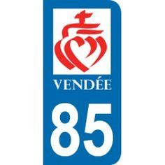Sticker Département 44, 49, 53, 72, 85, 85 Coeur de Jésus, région Pays de la…
