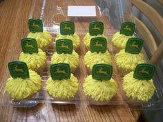 John Deere haystack cupcakes