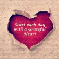 Start each day with a grateful heart | Dalice & Mark