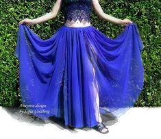 Ameynra Design Size S Purple Satin Midi Skirt Mid-calf New Elastic Waistband