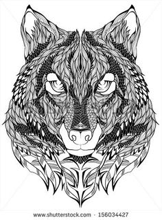 Wolf head Tattoo. Vector illustration. by diana pryadieva, via ShutterStock