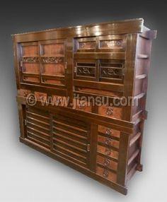 Japanese tansu, mizuya kitchen chest, at www.Jtansu.com