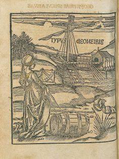 Urs Graf ca. 1485–1529/30 Typus Geometrie From Gregorius Reisch 1467 - 1525, Margarita Philosophica Printer: Johann Schott ( 1477–1548) March-April 1504 Printed: Straßburg Bayerische Staatsbibliothek, Munich