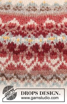 Fair Isle Knitting Patterns, Knitting Charts, Sweater Knitting Patterns, Lace Knitting, Knitting Designs, Knit Patterns, Knitting Projects, Drops Design, Tejido Fair Isle