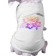 Tropical Hawaiian Floral Hibiscus Aloha Script T-Shirt - diy cyo customize create your own personalize