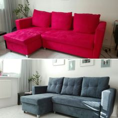 Sofa... before-after