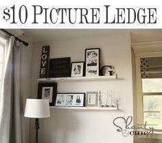 Easy DIY Picture Ledge using Gorilla Wood Glue. @Shanty 2 Chic