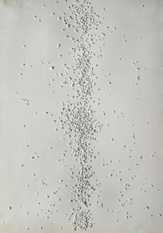 Piero Manzoni.  Achrome 1962 Pebbles and kaolin on canvas